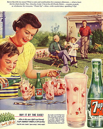 "Ah... the good old days when there was no ""co-parenting"" there were clearly defined roles.  Yes, I will have another gin and tonic dear, please put cherry 7up in it, just how I like it!"