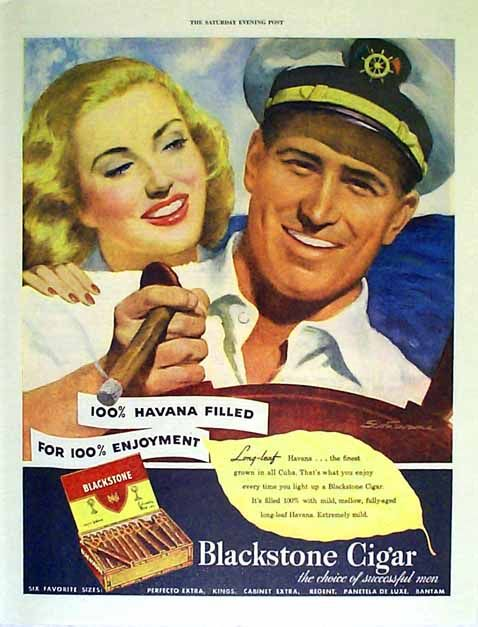 cigar ad from the 50s